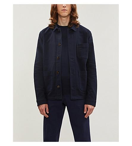 BOSS Crewneck cotton-blend jumper (Dark+blue