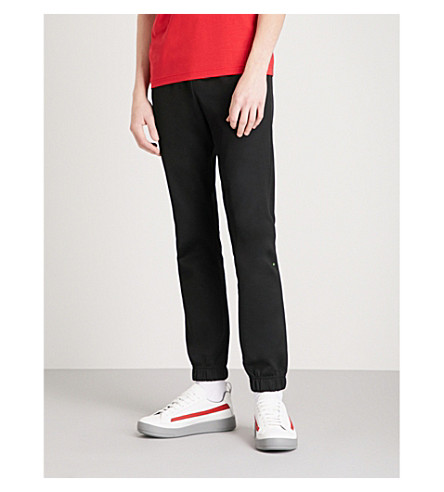 BOSS GREEN Relaxed-fit jersey jogging bottoms (Black