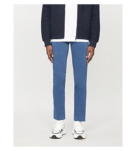 BOSS Slim-fit stretch-cotton chinos (Navy