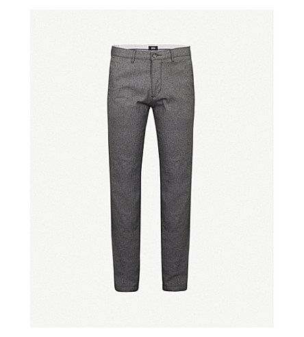 BOSS Leisure regular-fit tapered cotton chinos (Open+grey