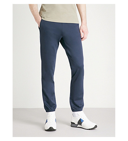BOSS Relaxed-fit jersey jogging bottoms (Navy