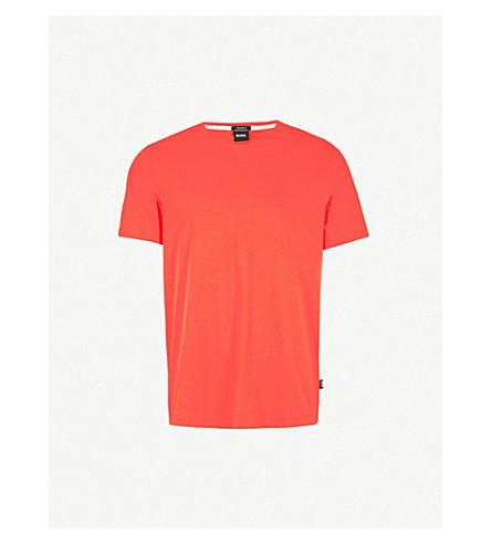 BOSS Leisure crewneck cotton-jersey t-shirt (Bright+red