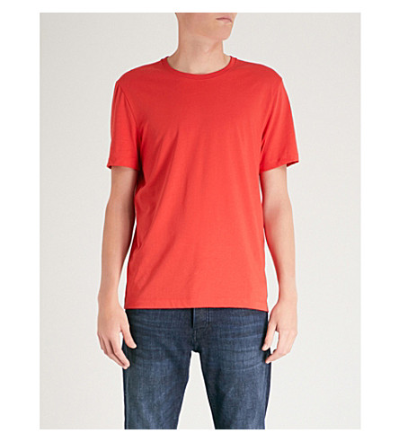 BOSS Leisure crewneck cotton-jersey t-shirt (Bright+red