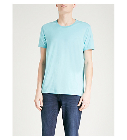 BOSS Leisure cotton-jersey t-shirt (Light/pastel+blue