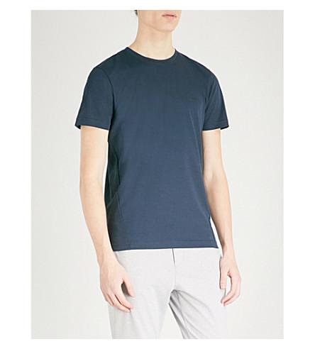 BOSS GREEN Sport logo-print mesh T-shirt (Navy