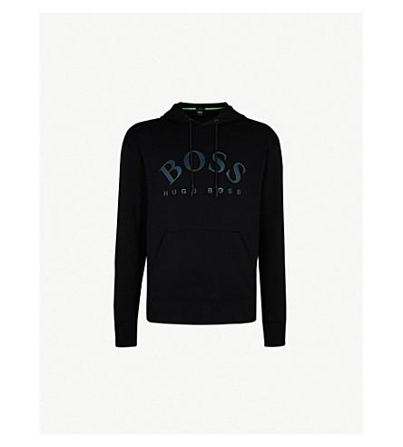 BOSS Logo-print jersey hoody (Black
