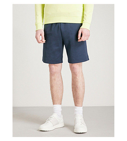 BOSS GREEN Logo-embroidered cotton-jersey shorts (Navy