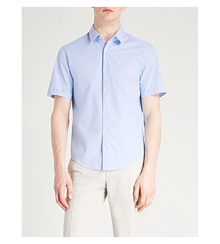 BOSS algodón azul de medio corte regular de Camisa 0rqxtPwr