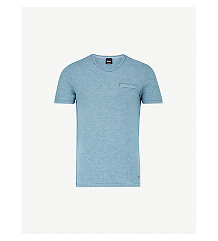 BOSS ORANGE Cotton-piqué T-shirt (Turquoise/aqua