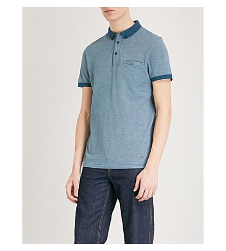 BOSS ORANGE Cotton-piqué polo shirt (Turquoise/aqua