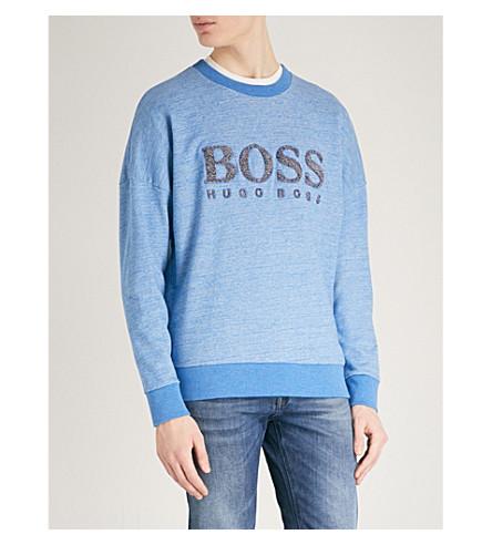 BOSS ORANGE Boss Orange jersey sweatshirt (Bright+blue