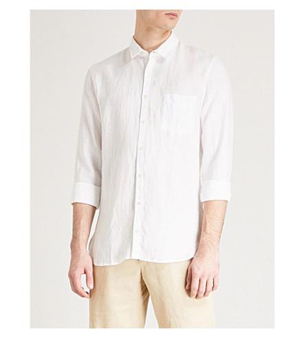 BOSS ORANGE Regular-fit linen shirt (White