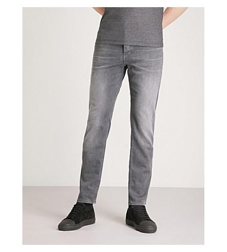 BOSS ORANGE Slim-fit tapered jeans (Black