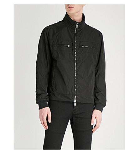 BOSS Funnel neck shell jacket (Black