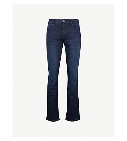 BOSS ORANGE Faded regular-fit straight jeans (Navy