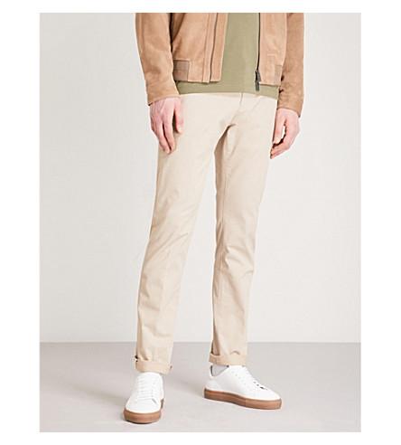 HUGO Slim-fit skinny cotton-blend trousers (Medium+beige
