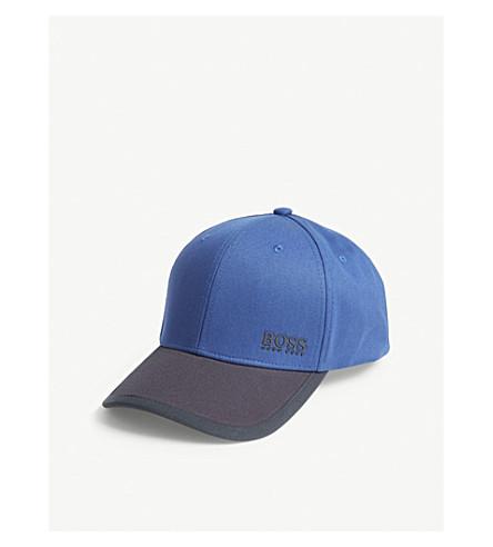 BOSS Logo cotton baseball cap (Medium+blue