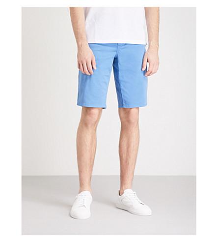 BOSS ORANGE Slim-fit cotton chino shorts (Bright+blue