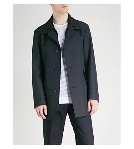HUGO Notch-lapel shell coat (Navy