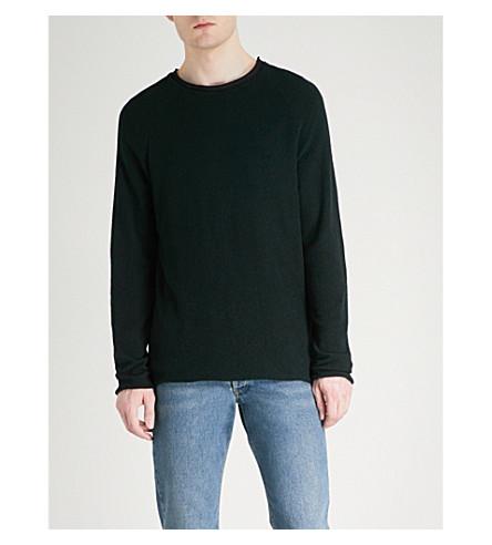 HUGO Bouclé knitted jumper (Black