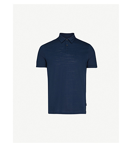 BOSS Stretch-cotton polo shirt (Navy