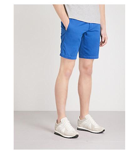BOSS Slim-fit cotton-blend shorts (Medium+blue