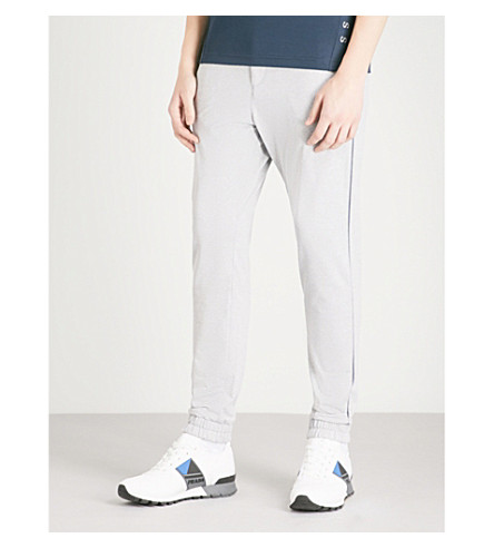 BOSS GREEN Slim-fit jersey jogging bottoms (Light/pastel+grey