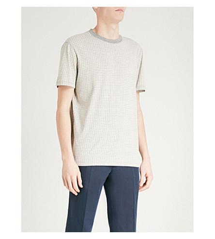BOSS ORANGE Geometric-print cotton-jersey T-shirt (Light/pastel+grey