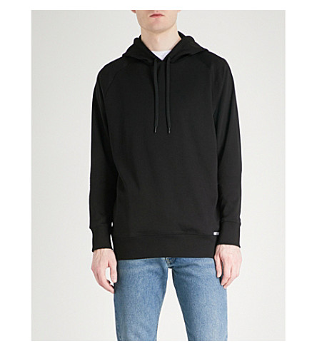 HUGO Branded cotton-jersey hoody (Black