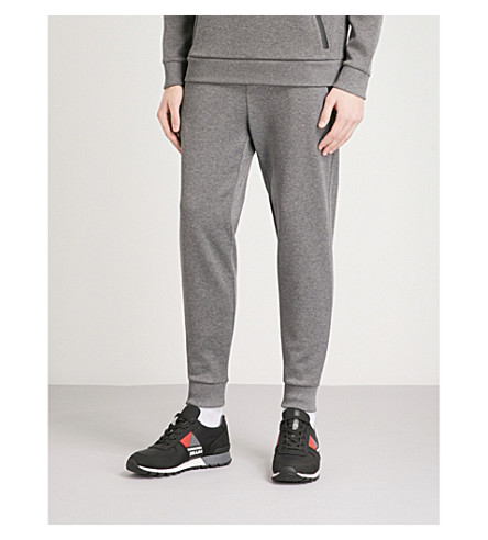 HUGO Zipped-pocket cotton-jersey jogging bottoms (Open+grey