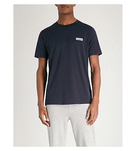 HUGO Logo-print cotton-jersey T-shirt (Navy