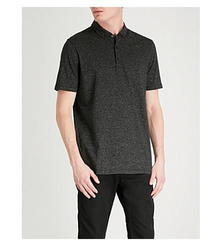 HUGO Regular-fit cotton-piqué shirt (Black