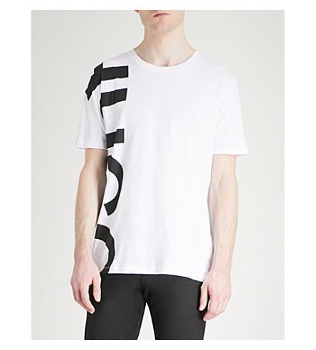 T print Logo HUGO White shirt jersey HUGO cotton Logo crewneck xCq1OFv0w