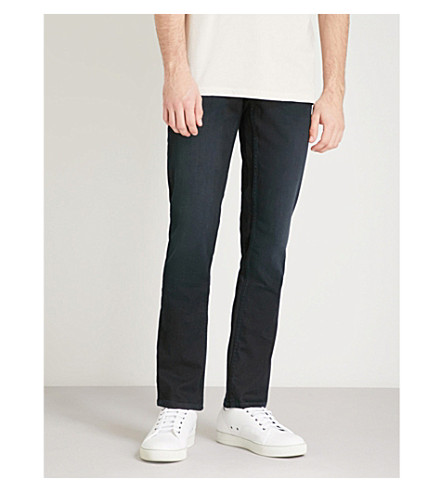 BOSS ORANGE Slim-fit tapered super-stretch jeans (Dark+blue