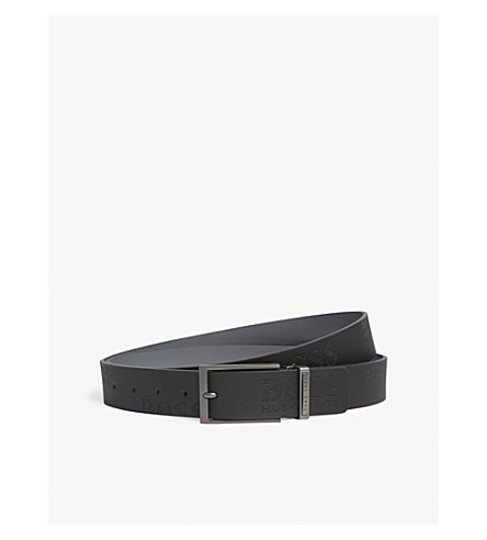 BOSS GREEN Tomillo leather belt (Black