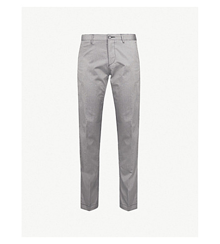 BOSS Slim-fit cotton trousers (Open+grey