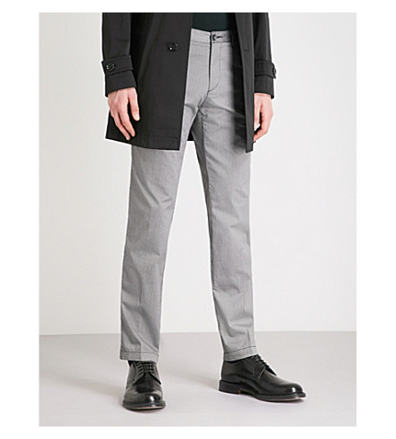 BOSS Slim-fit cotton trousers (Open+grey