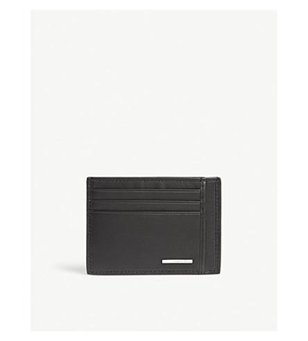 BOSS Ruben leather card holder (Black