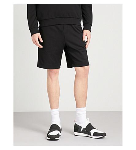 Negro bordado jersey cortos Logo BOSS 6wHTxIT
