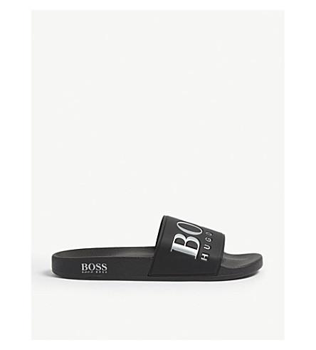 BOSS Logo rubber sliders (Black