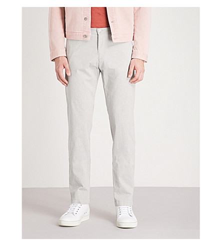BOSS Regular-fit straight stretch-cotton trousers Open grey Discount New Styles Cheap Online Store Cheap Factory Outlet bIRSJUY