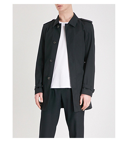 HUGO Woven trench coat (Black
