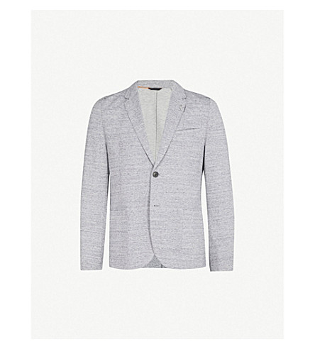 HUGO Slim-fit jersey blazer (Medium+grey