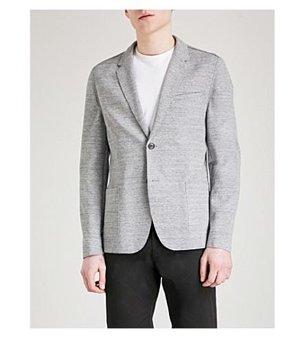 HUGO Slim-fit jersey blazer (Medium+grey