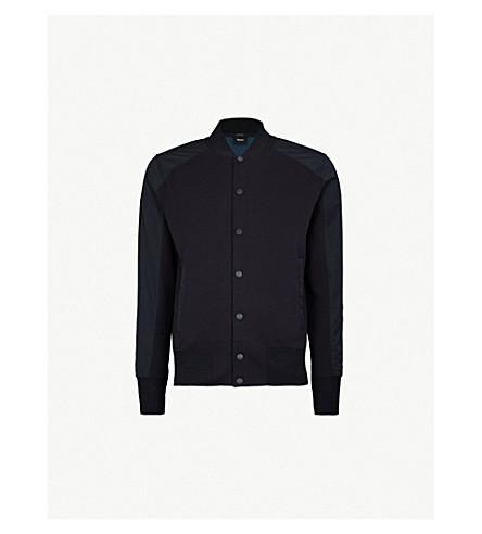 BOSS Leisure cotton-blend bomber jacket (Open+blue