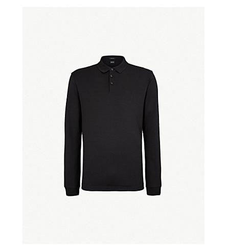 BOSS Leisure cotton-jersey polo shirt (Black