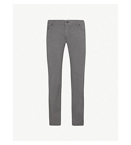 BOSS 常规版型直棉混合裤子 (中 + 灰