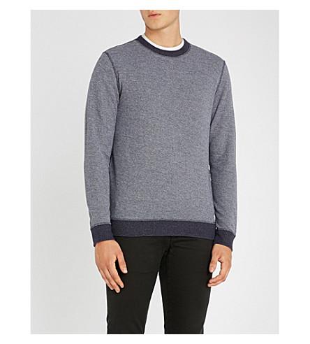 BOSS Crewneck cotton jumper (Dark+blue
