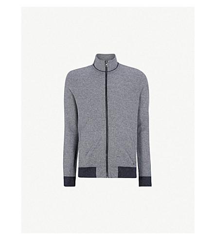 BOSS 漏斗颈针织毛衣 (深色 + 蓝色