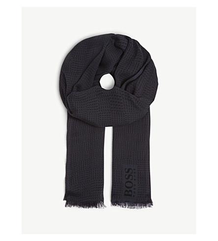 BOSS Boss men casual scarves scarf (Dark+blue